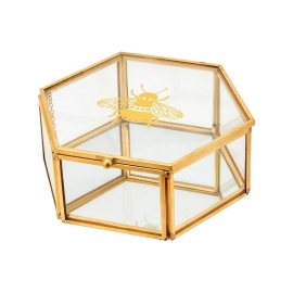 Busy Bees Glass Jewellery Box