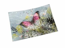Rectangular Glass Butterfly Plate