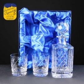 Cut Crystal Whisky Decanter & Glasses Set